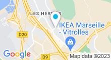 Plan Carte Piscine Tournesol Liourat à Vitrolles