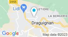 Plan Carte Piscine Alex Jany à Draguignan