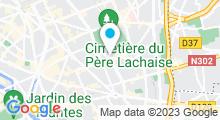Plan Carte Piscine Georges Rigal à Paris (11e)