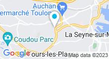 Plan Carte Piscine Aquasud à La Seyne sur Mer