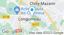 Plan Carte Piscine Pierre et Marcelle Chichignoud à Longjumeau