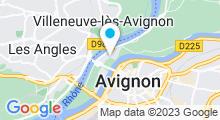 Plan Carte Piscine olympique la Palmeraie en Avignon