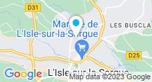 Plan Carte Piscine à L'Isle sur la Sorgue