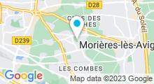 Plan Carte Piscine Jean Clément à Montfavet