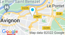 Plan Carte Piscine Stuart Mill en Avignon