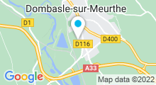 Plan Carte Centre aquatique Atrium - Piscine à Dombasle