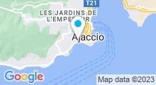 Plan Carte Piscine Rossini à Ajaccio