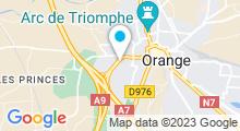Plan Carte Piscine l'Attente à Orange