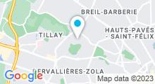 Plan Carte Piscine des Dervallières à Nantes