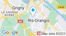 Plan Carte Piscine René Touzin à Ris-Orangis