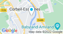 Plan Carte Stade nautique Gabriel Menut - Piscine à Corbeil-Essonnes