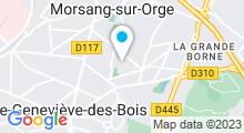 Plan Carte Piscine de Morsang-sur-Orge
