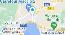Plan Carte Piscine des Salines à Ajaccio