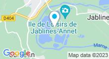 Plan Carte Base régionale de Plein-air et de Loisirs de Jablines-Annet