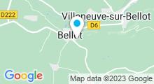 Plan Carte Piscine intercommunale Ariel Mignard de Bellot