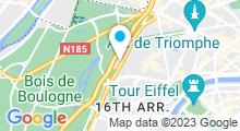Plan Carte Piscine Henry de Montherlant à Paris (16e)