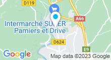 Plan Carte Piscine Neptunia à Pamiers