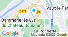 Plan Carte Piscine Jean Boiteux à Dammarie-lès-Lys