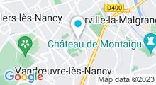 Plan Carte Piscine Michel Bertrand à Vandoeuvre les Nancy