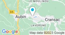 Plan Carte Piscine du Gua à Aubin