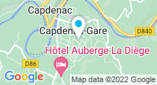 "Plan Carte Centre aquatique intercommunal ""LA LOCÔ"" à Capdenac-Gare"