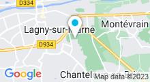 Plan Carte Centre aquatique de Marne et Gondoire - Piscine à Lagny-sur-Marne