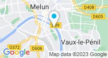 Plan Carte Piscine découverte de Melun