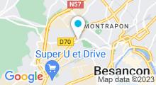 Plan Carte Piscine Mallarmé à Besançon