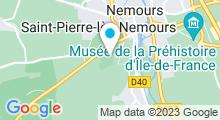 Plan Carte Centre nautique Aquasud 77 - Piscine à Saint-Pierre-lès-Nemours