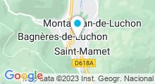 Plan Carte Piscine Alban Rouge à Bagnères de Luchon