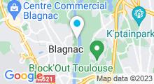 Plan Carte Complexe nautique des Ramiers - Piscine à Blagnac