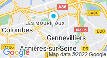 Plan Carte Piscine Franck Esposito à Asnières-sur-Seine