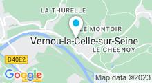 Plan Carte Piscine des Collinettes de Vernou-la-Celle-sur-Seine