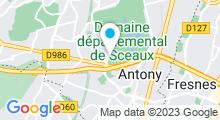 Plan Carte Piscine de la Grenouillère - Parc de Sceaux à Antony