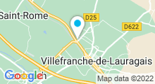 Plan Carte Piscine à Villefranche de Lauragais