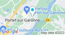 Plan Carte Piscine à Portet sur Garonne