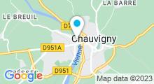 Plan Carte Piscine de Chauvigny
