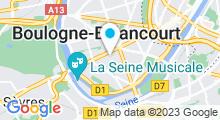 Plan Carte Piscine de Boulogne-Billancourt