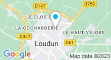 Plan Carte Piscine Tournesol de Loudun