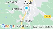 Plan Carte Stade nautique - Piscine à Auch