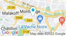 Plan Carte Piscine Aquapol de Montrouge