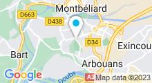 Plan Carte Piscine de Montbéliard