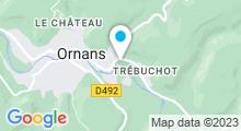 Plan Carte Piscine Nautiloue à Ornans