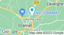 """Plan Carte Piscine """"Cascades du Causse"""" de Gramat"""