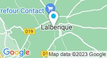 Plan Carte Piscine à Lalbenque