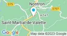 Plan Carte Piscine L'Ovive à St-Martial-de-Valette