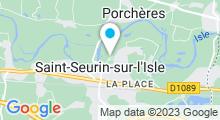 Plan Carte Piscine Les Bains de l'Isle à St-Seurin