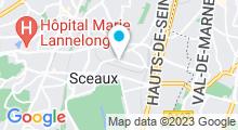 Plan Carte Piscine des Blagis à Sceaux