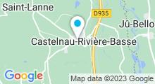 Plan Carte Piscine de Castelnau Rivière Basse