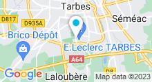 Plan Carte Centre nautique Paul Boyrie - Piscine à Tarbes